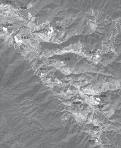 图1-1 牛红村村民小组分布地理图