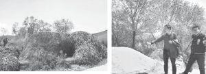图2-2 老庄村驻村扶贫队干部介绍农户利用秸秆进行堆肥的情况