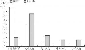 图2 贫困户与非贫困户文化程度对比