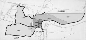图1-4 上海租界扩界图