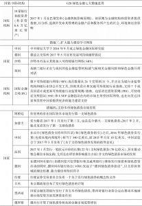 表6-1 G20绿色金融七大措施进展-续表2