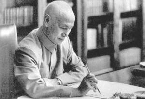 正在写日记的蒋介石