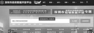 图9 深圳市政府数据开放平台