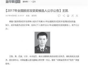 图2-5 新华网关于海关总署派驻鲁山县土桥村第一书记事迹报道
