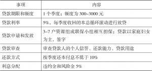 表4-1 松坪村CDF信贷设计