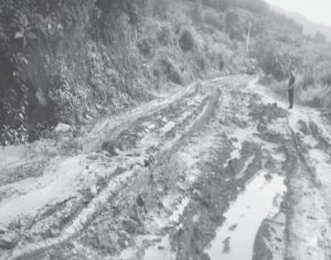 图5-1 泥泞道路