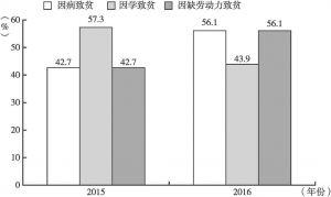 图3-1 2015~2016年双台村贫困人口主要致贫原因