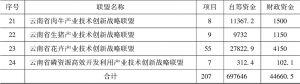 表1-2 云南省联盟试点(第一、二批)联合项目汇总-续表