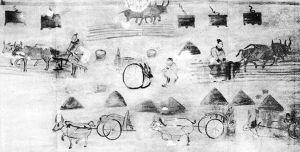图3-9 和林格尔汉墓壁画农耕图