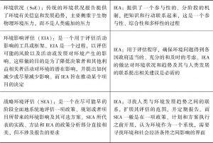 表11-1 与IEA有关的其他评估