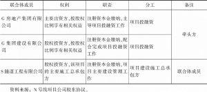 表3 联合体成员的权利、职责及分工