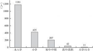 图1-6 新龙村村民受教育程度情况