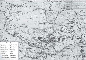 图4-1 西藏自治区行政区划图