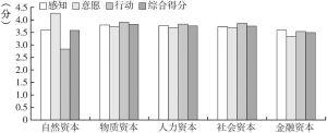 图7-1 农户生计资本响应得分