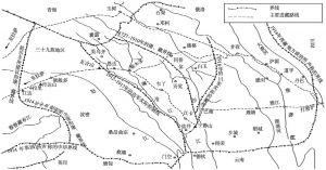 图1-1 清代至民国康藏地区的界线示意图