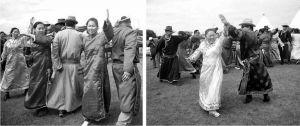 图4-20 达斡尔族萨满仪式中的歌舞