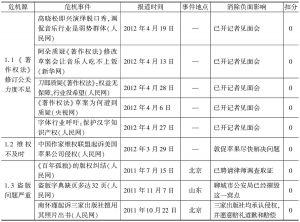 表6 版权保护问题一览表