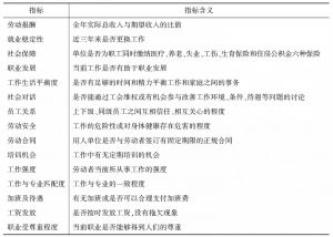 表1 个人就业质量考量指标及其含义