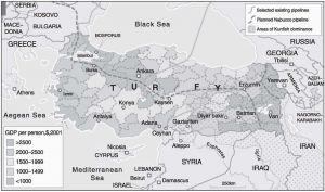 图2-2 土耳其各地区经济发展水平比较