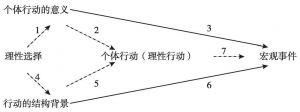 图4-6 理性选择范式对于旧范式的重复论证