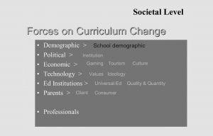 图10 人口学作为学校课程研究的焦点课题