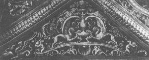图10 佩鲁吉诺:佩鲁吉亚的康比奥教堂天花板上的拱眉图案(约1500年)