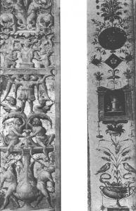 图12 左:卢卡·西诺莱里:奥尔维埃托大教堂的壁柱细部(1500~1504年) 右:拉斐尔的助手乔瓦尼·达·乌迪内:罗马梵蒂冈敞廊里的壁柱的细部(1515~1519年)