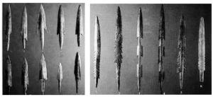 组图7-1 贾湖遗址出土的骨镞与骨镖