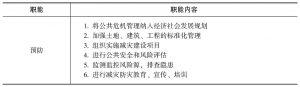 表3-1 公共危机管理职能