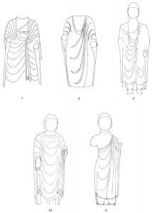 图3-1-4 青州地区单尊雕饰衣纹佛衣