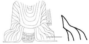 图4-2-7 元嘉二十五年(448)造像