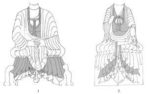 图5-5-4 龙门石窟佛衣