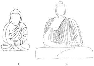 图6-3-3 覆肩袒右式佛衣