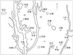 图5-1 周原遗址位置示意图