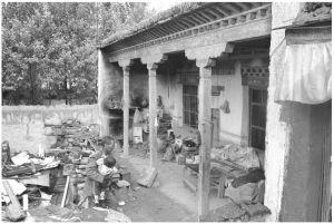 图片16 郭加村一贫困户的院落