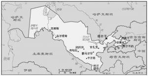 图6-1 乌兹别克斯坦略图