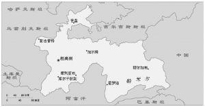 图8-1 塔吉克斯坦略图