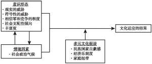 图5-2 文化适应的社会指征