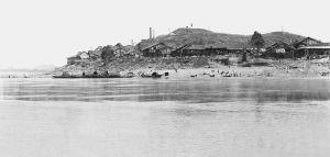 洪峰过后的牛佛古镇(老照片)
