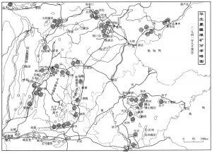 """图4-1 华北""""蒙疆""""煤矿分布略图"""