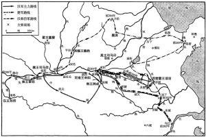 楚汉战争形势图