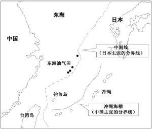 图12-1 中日东海划界示意图