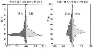 图A-5 迁移人口年龄金字塔(%)