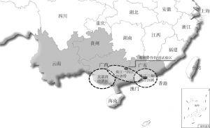 图4-27 相关区域内各规划经济区示意