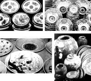"""图8-1 """"戴安娜号""""沉船出水的陶瓷器"""