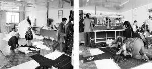 民族服装加工厂制作帐篷和藏服的村民