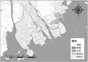 图1 珠海市景观分布格局