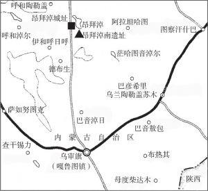 图1 遗址位置示意图
