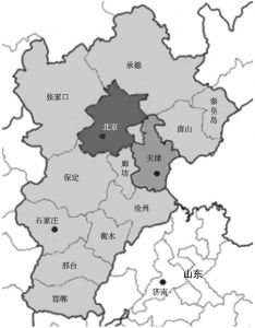图3-1 京津冀城市群结构