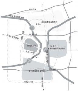 图6-3 郑州临空经济区空间布局示意